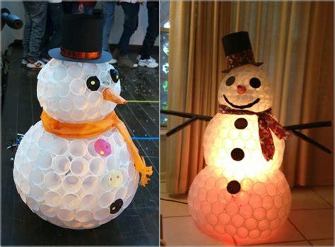 schneemann nase basteln lustigen schneemann basteln 12 tolle ideen f 252 r winterliche dekoration