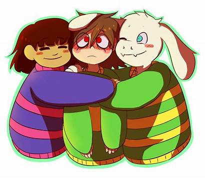 Undertale Chara Frisk Asriel Hugging Anime Vs