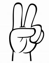 Peace Sign Coloring Fingers Finger Clipart Hand Flag Cartoon Pages Clip Printable Cliparts Hands Number Zeichen Hm Library Signs Clipground sketch template