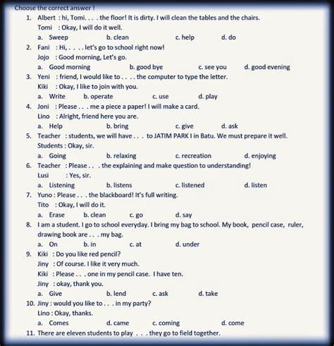 Di bawah ini merupakan arsip soal ujian sekolah (us) sd/mi 2016 dan kunci jawaban, semoga nantinya bisa sebagai bahan belajar para siswa kelas 6 sd/mi tahun pelajaran sd bina karya akan berulang tahun. Download Soal Ujian Sekolah SD/MI Tahun 2015 - Bahasa ...