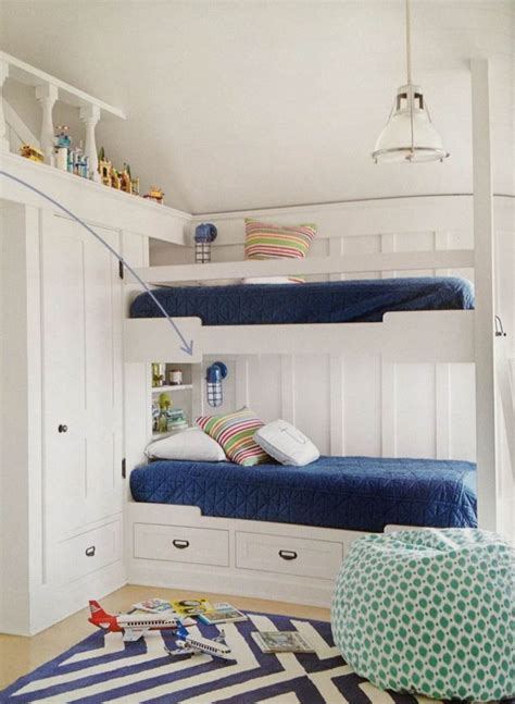 The folding wall beds at expand furniture are a truly unique design that will maximize your home like never before. Built in bunk beds with wall sconce lighting   Bunk bed designs, Bunk beds built in, Luxury ...