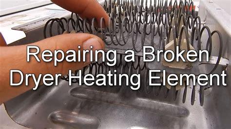 repair  broken dryer heating element youtube