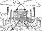 Mahal Taj Coloring Marble Para Dibujos Dibujo Drawing Colorear Del Mundo Cartoon La India Pages Ciudad Dibujar Pintar Mandalas Faciles sketch template
