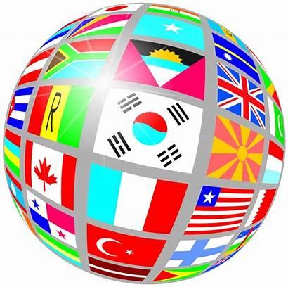 Clip Flags Clipart Flag Globe International Around