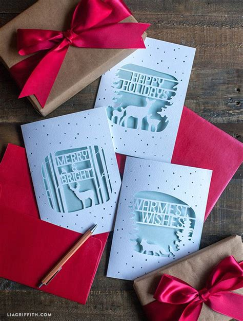 elegant paper cut christmas cards cricut ideas