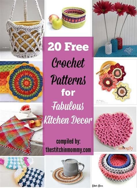 free crochet patterns for kitchen accessories 1000 images about crochet ideas and inspiration on 8269