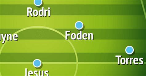 How Man City should line up vs Tottenham in Premier League ...