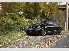 BMW i3 with custom wheels