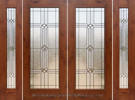 Doors : Rustic French Doors With Sidelights
