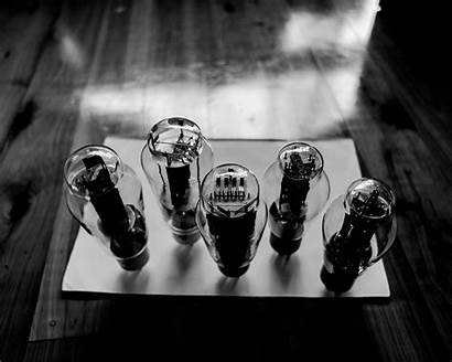 Vacuum Tubes Surface Close Glass Monochrome Wallpapers