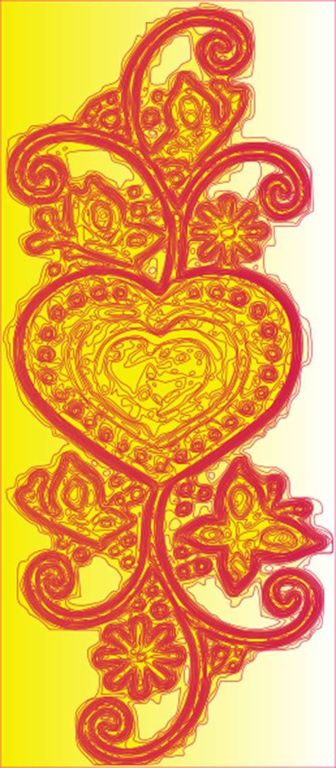 decorative heart clip art  clkercom vector clip art
