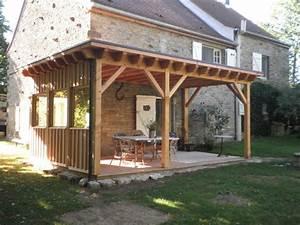 Abri De Terrasse : charpente bois toit plat ~ Premium-room.com Idées de Décoration