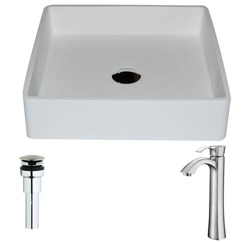 what is matte stone sink vigo caladesi matte stone vessel sink in white and niko