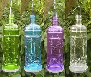 Glas Windlicht Zum Hängen : 4 farben auswahl windlicht flasche zum h ngen glas laterne antik landhausstil ebay ~ Bigdaddyawards.com Haus und Dekorationen