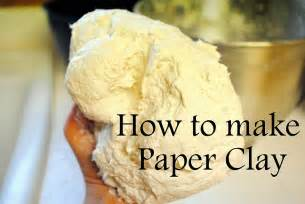 dahlhart how to make paper clay