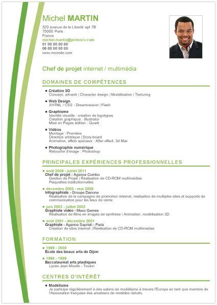 Exemples De Cv Professionnel by Exemple De Cv Professionnel Cv Gratuit Modele Degisco