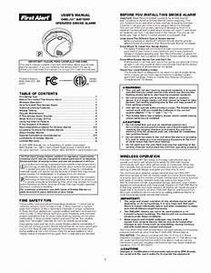 First Alert User U0026 39 S Manual Smoke Alarm Sa500
