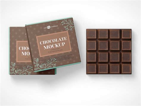 Free chocolate wrapper packaging psd mockup. Box - PSD Mockups