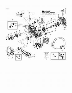 Poulan 2150 Chainsaw Fuel Line Diagram