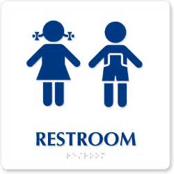 unisex nursery and preschool ada restroom signs
