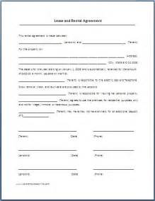 Printable Rental Lease Agreement Template