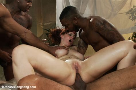 hot milf with red hair bella rossi loves getting fucked by big black cocks at the same time