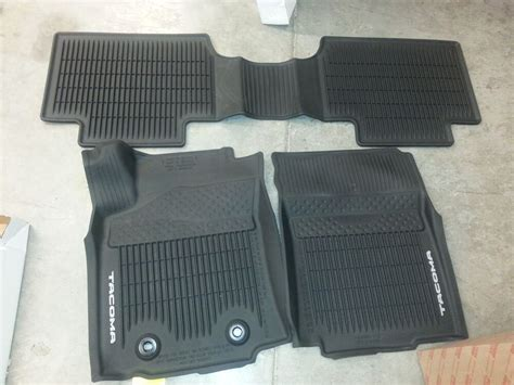 Toyota All Weather Floor Mats by 2016 2017 Toyota Tacoma Factory All Weather Front Rear