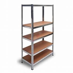 Crémaillère étagère Charge Lourde : etag re galvanis e 5 rayonnages bois charge lourde 875 ~ Premium-room.com Idées de Décoration