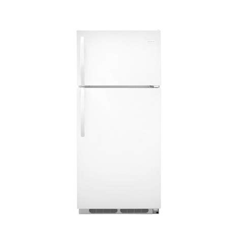 lowes refrigerators sale shop frigidaire 16 5 cu ft top freezer refrigerator white at lowes com