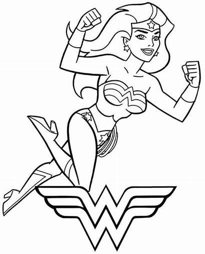 Wonder Coloring Woman Pages Superman Printable Books