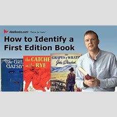 Abebooks Explains How To Identify A First Edition Book Youtube