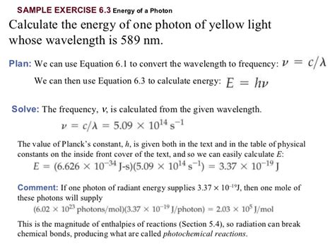 how to measure wavelength of light chapter 6 lecture electrons in atoms