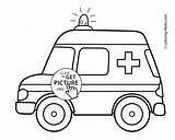 Ambulance Coloring Transportation Printable Vehicles Preschool 4kids sketch template