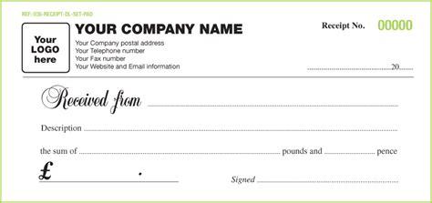6 free receipt templates excel pdf formats