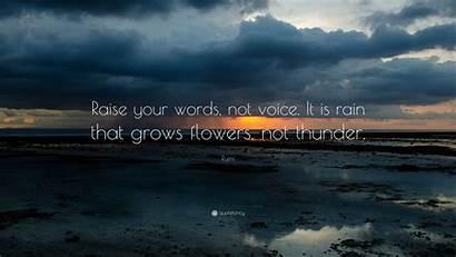 Rumi Rain Words Voice Raise Quotefancy Quotes