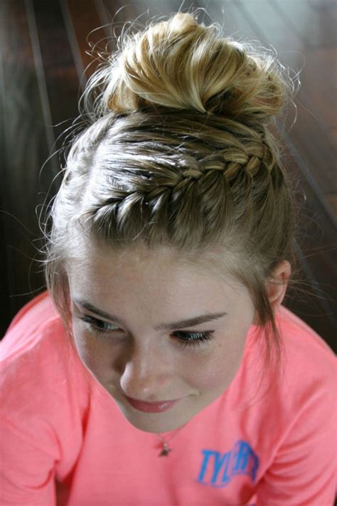 25 Best Ideas About Bun With Braid On Pinterest How To