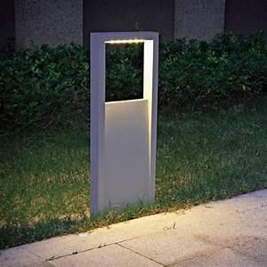 Potelet D Eclairage Exterieur : mera lampe led de balisage pour l ext rieur rectangulaire ~ Premium-room.com Idées de Décoration