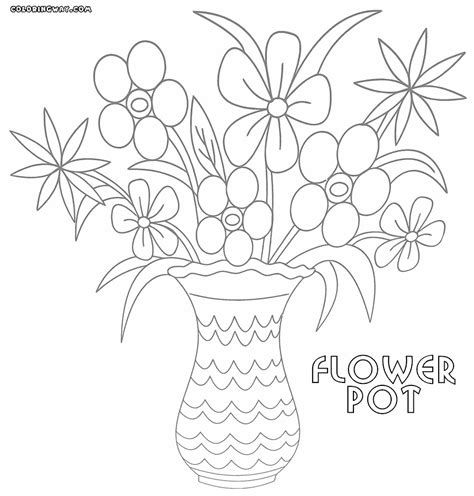 flower pot coloring pages coloring pages