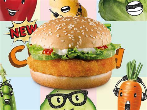 mcdonalds launches  veggie crunch burger  singapore