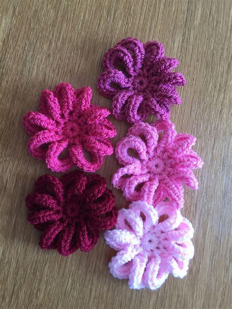 easy  simple  crochet flower patterns  tutorials