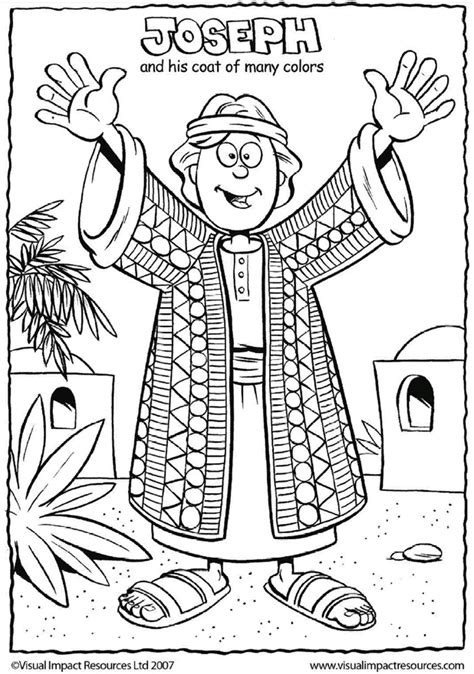 joseph   coat coloring page sunday school