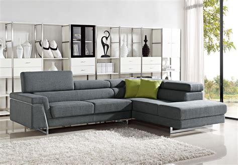 modern sectional sofas darby modern grey fabric sectional sofa set