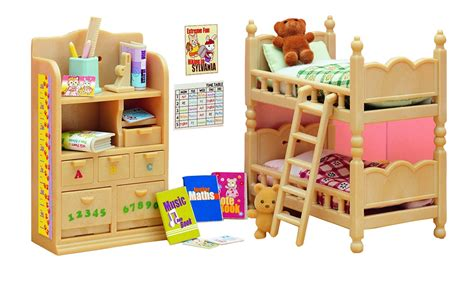 sylvanian families cuisine sylvanian families children 39 s bedroom furniture collectibles from boswells
