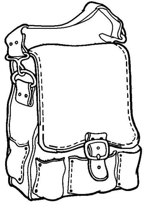 Kleurplaat Priem teken wat je mee neemt in je rugzak thema naar school