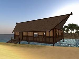 Second Life Marketplace - Tiki Beach House (L-Shape ...
