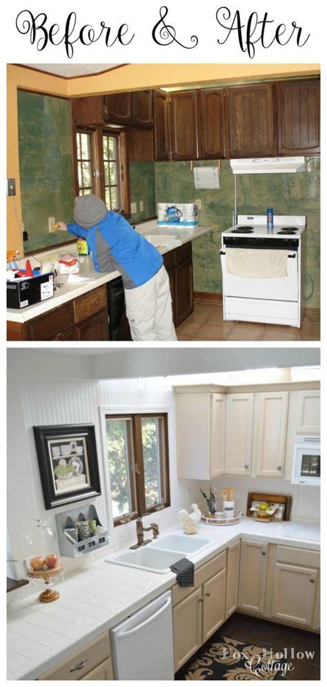 glass kitchen cabinets cottage kitchen mini makeover fox hollow cottage 1230