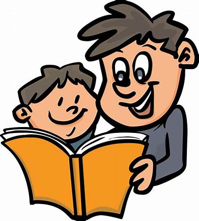 Reading Clipart Clip Child Parents Library