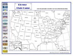 License Plate Travel Game Printable
