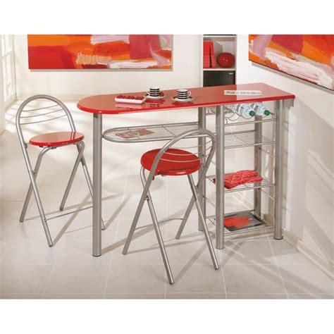 but table de cuisine table bar brigitte métal laqué meuble de cuisine