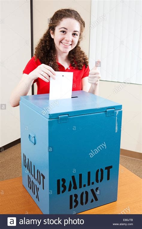 Pretty Year Old Hispanic American Girl Voting For The